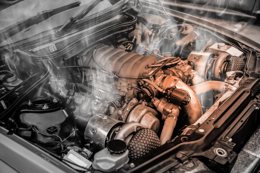 overheated-muscle-car-engine